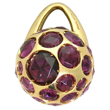image of New Pomellato Harem 18k Gold Rhodolite Ball Pendant