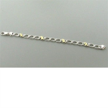 thumbnail image of Tiffany & Co Sterling 18k Gold Chain Link Bracelet