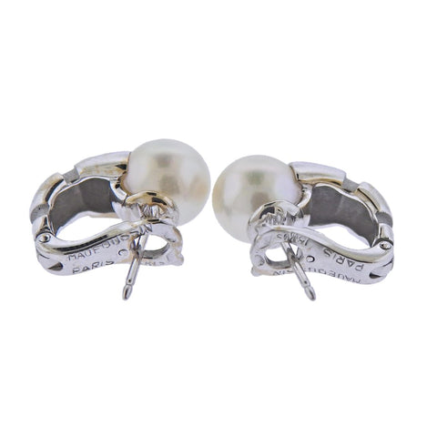 image of Mauboussin 18k Gold Pearl Earrings