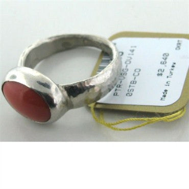 image of Brand New Gurhan Platinum Coral Ring