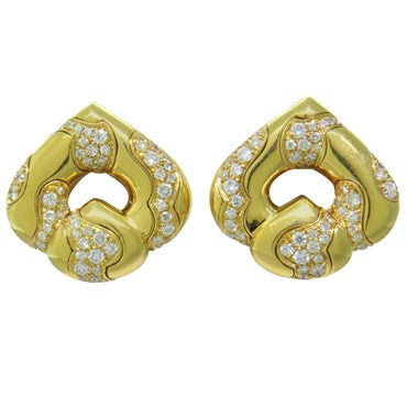 image of Marina B Diamond 18k Gold Earrings