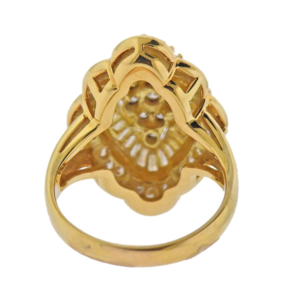 thumbnail image of 18k Gold 1.36ctw Diamond Cocktail Ring