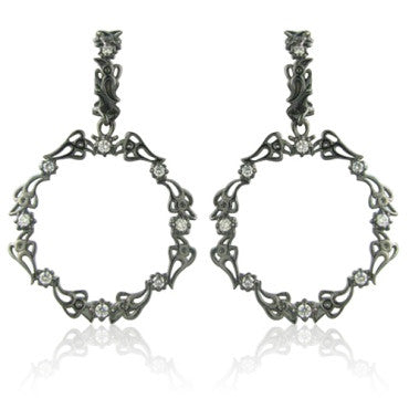 image of Paul Morelli 18k Gold Circle Diamond Earrings
