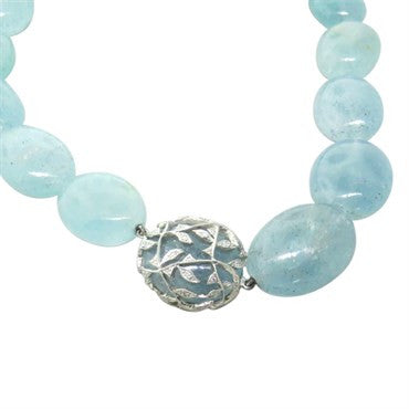 thumbnail image of Cathy Waterman Aquamarine Bead Diamond Platinum Necklace