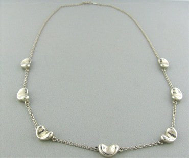 image of Tiffany & Co Elsa Peretti Bean Sterling Silver Necklace