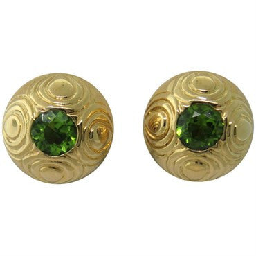 image of Gumps Peridot Gold Earrings