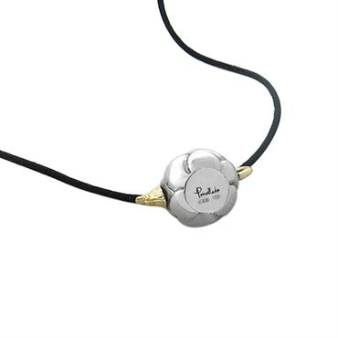thumbnail image of New Pomellato Five O'Clock 18k Gold Sterling Pendant Cord Necklace