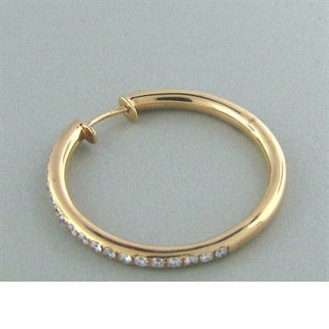 thumbnail image of Faraone Mennella 18k Gold Diamond Hoop Earrings