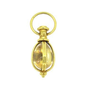 thumbnail image of Temple St. Clair 18K Gold Rock Crystal Amulet Pendant