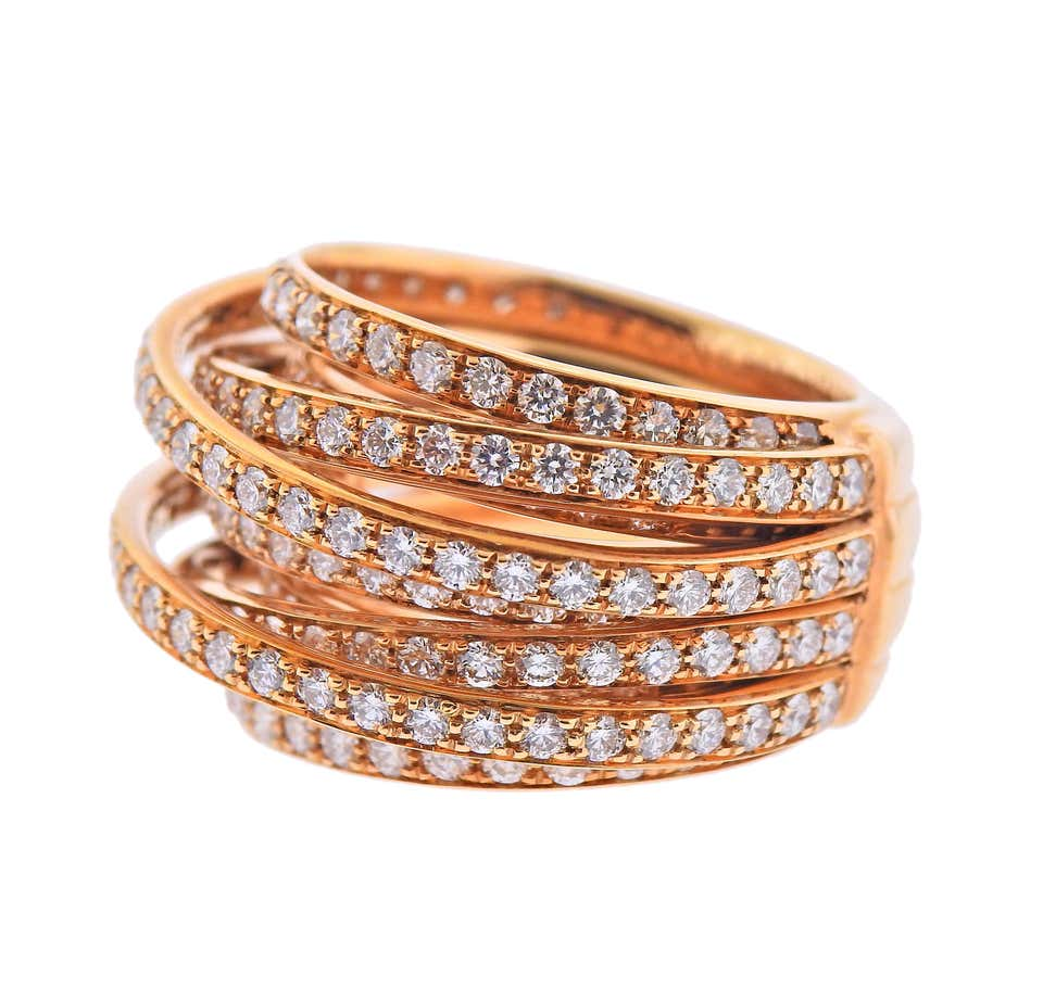 thumbnail image of De Grisogono Allegra Rose Gold Diamond Ring