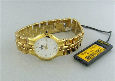 image of New Fendi Gold Tone Ladies Watch F88240