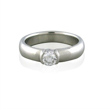 image of Tiffany & Co Etoile Platinum D VVS2 0.28ct Diamond Engagement Ring