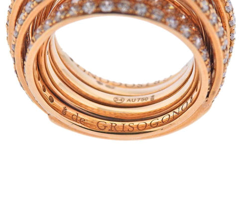 image of De Grisogono Allegra Rose Gold Diamond Ring