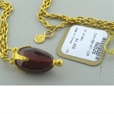 thumbnail image of New Gurhan 24k Gold 18.20ct Garnet Necklace
