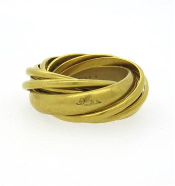 image of Pomellato 18k Gold Multi Rolling Band Ring