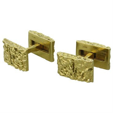 image of 1970s Tiffany & Co Gold Cufflinks