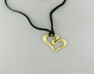 thumbnail image of Robert Lee Morris 14k Yellow Gold Heart Pendant Necklace