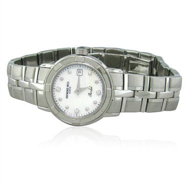 image of Raymond Weil Diamond Parsifal Ladies Watch 9441 ST 97081