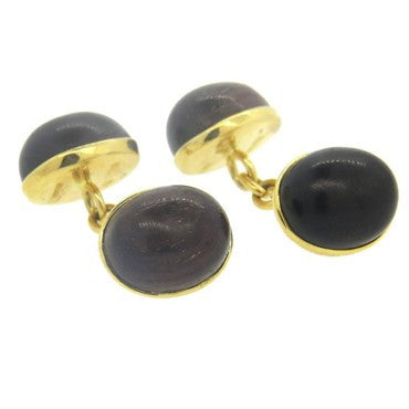 image of Trianon Wood 18k Gold Cufflinks