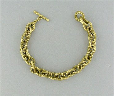 thumbnail image of Estate Tiffany & Co 18K Gold Chain Link Bracelet