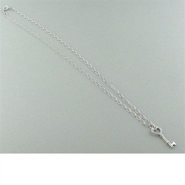thumbnail image of Tiffany & Co Heart Key Pendant Diamond Necklace