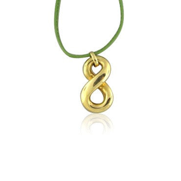 thumbnail image of New Faraone Mennella 18k Green Leather Cord Necklace