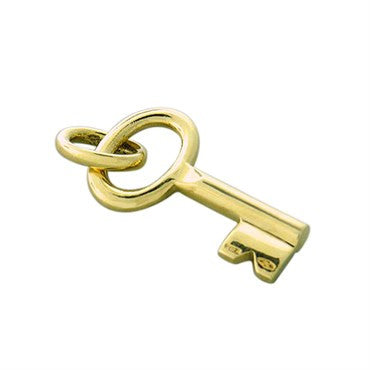 thumbnail image of New Pomellato 18k Gold Small Key Pendant Charm