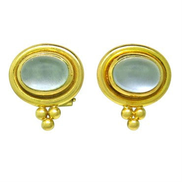 image of Temple St Clair 18k Gold Moonstone Earrings