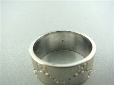 thumbnail image of Estate Gucci Icon 18K White Gold Band Ring