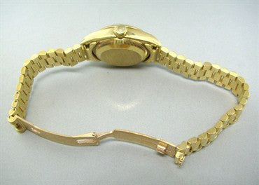 thumbnail image of Rolex President 18K Gold Diamond Dial Ladies Watch 69178