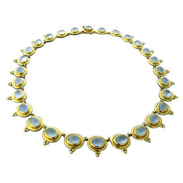 thumbnail image of Temple St. Clair 18k Yellow Gold 56.00ct Aquamarine Necklace