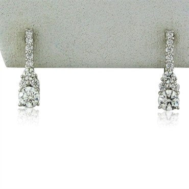image of New Hearts On Fire Triplicity Cluster Diamond Drop Earrings