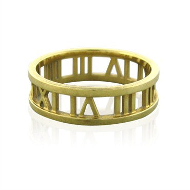 image of Estate Tiffany & Co Atlas 18K Yellow Gold Ring