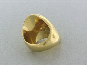 thumbnail image of Georg Jensen Denmark Nanna Ditzel Modernist 18K Gold Ring