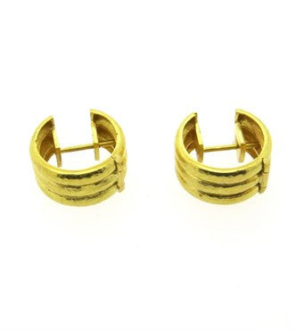 thumbnail image of Elizabeth Locke 18k Gold Hoop Earrings