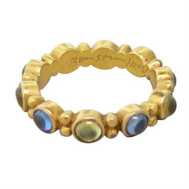 image of Reinstein Ross 22k Gold Sapphire Renaissance Stackable Ring