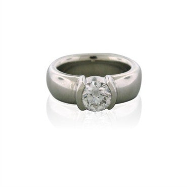 image of Gia Certified Tiffany & Co 1.00ct G VVS1 Diamond Engagement Ring