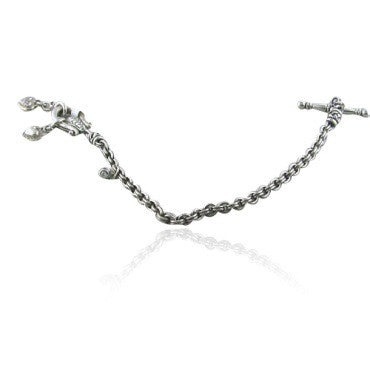 image of Scott Kay Sterling Diamond Heart Toggle Bracelet