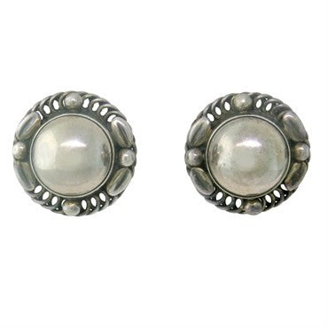 image of Georg Jensen Sterling Silver Earrings 39 B