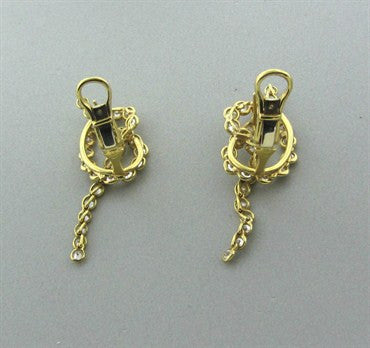 thumbnail image of Estate Jose Hess 18K Yellow Gold 3.00ctw Diamond Earrings