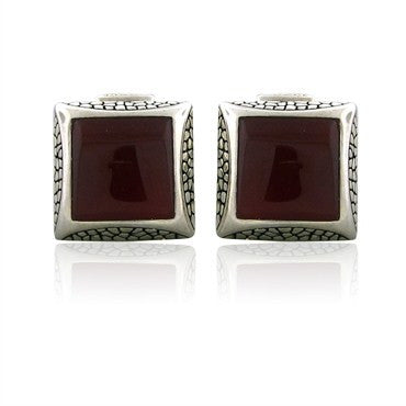 image of Stephen Webster Sterling Silver Carnelian Cufflinks