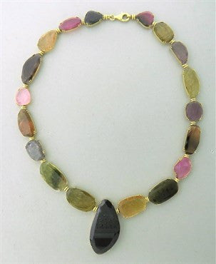 thumbnail image of Tous Multicolor Gemstone Gold Necklace