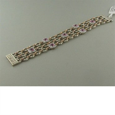image of Krypell Sterling 14k Gold Tourmaline Diamond Bracelet