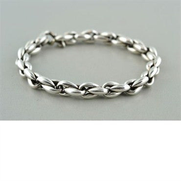 thumbnail image of Estate Hermes Sterling Silver Chain Link Bracelet