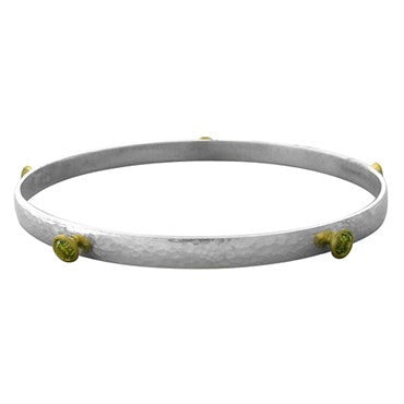 image of New Gurhan 24K Gold Sterling Silver Khaki Topaz Skittle Bracelet