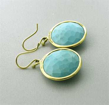 image of Ippolita 18k Gold Turquoise Round Earrings