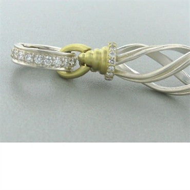 thumbnail image of New Slane & Slane Sterling & 18k Ventus Diamond Pendant
