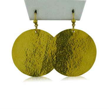 image of Gurhan 24k Gold Large Circle Drop Earrings
