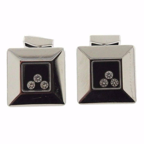 Chopard Massive Happy Diamonds Diamond Gold Cufflinks