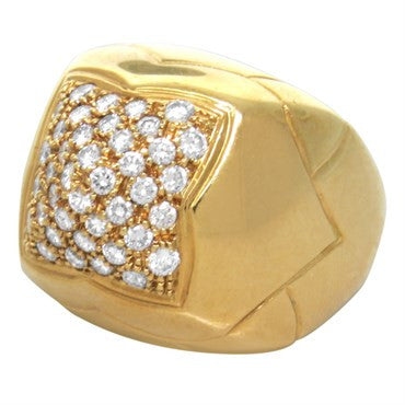 image of Bvlgari Bulgari Piramide 18k Gold Diamond Ring